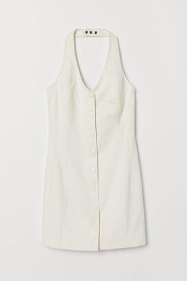 H&M Short Halterneck Dress - White