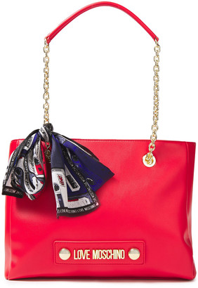 Love Moschino Bow-embellished Faux Leather Tote