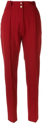 Plein Sud Jeans High Waisted Tailored Trousers