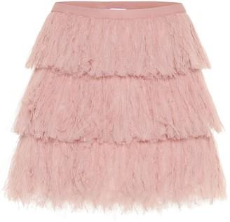 RED Valentino Tiered tulle miniskirt