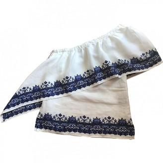 Lauren Ralph Lauren White Linen Top for Women