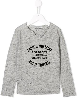 Zadig & Voltaire Kids Boxo jersey top
