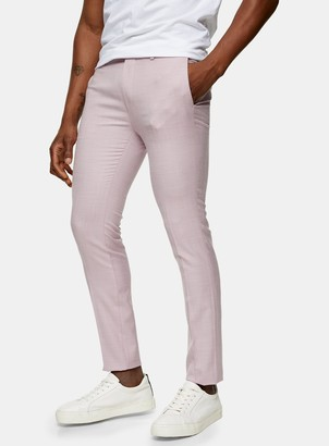 Topman Lilac Super Skinny Fit Suit Trousers