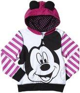 Disney Mickey Graphic Hoodie (Kid) - Pink/White-6X