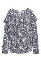 H&M Long-sleeved Flounced Top