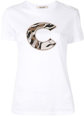 Roberto Cavalli stud embellished T-shirt