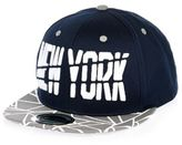 River Island Boys navy New York geometric print cap
