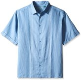 Cubavera Men's Big-Tall Men's Big and Tall Short Sleeve Panel Woven Shirt