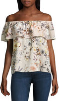 Buffalo David Bitton JEANS i jeans by Ruffle Off The Shoulder Top