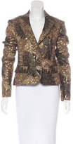 Just Cavalli Brocade Notch-Lapel Blazer