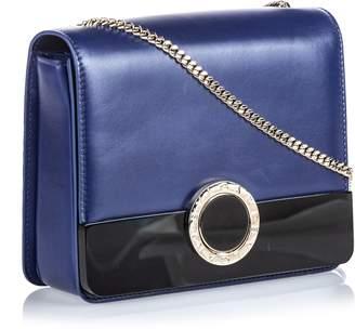 Bvlgari Blue Leather Bulgari-bulgari Chain Crossbody Bag