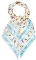 Diane von Furstenberg Silk Floral Print Scarf