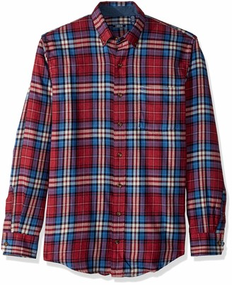 Izod Men's Big Stratton Long Sleeve Button Down Plaid Flannel Shirt