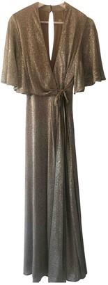 Jenny Packham Gold Polyester Dresses