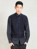 Still Good Black/Navy L/S Layered Button Up Shirt