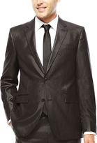 Jf J.Ferrar JF Charcoal-Black Plaid Suit Jacket - Slim Fit