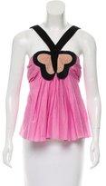 Sonia Rykiel Pleat-Accented Butterfly Top