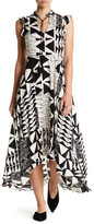 Plenty by Tracy Reese Hi-Lo Print Maxi Print Dress