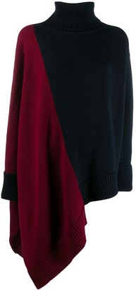 Monse Asymmetric Hem Color-Block Sweater