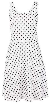 Dorothy Perkins Womens Ivory Spot Print Seamed Jersey Dress