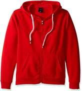 Southpole Men's Active Basic Hooded Fleece Full Zip, Red, X