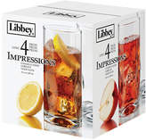 Libbey Set of Four Impressions Tall Glasses