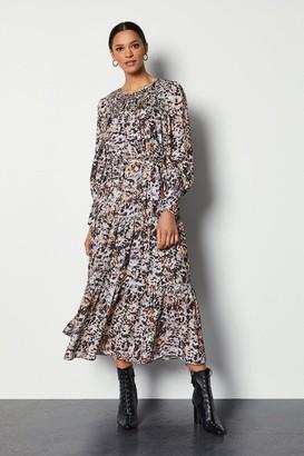 Karen Millen Tiered Midi Dress With Shirrin