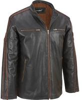 Black Rivet Mens Big & Tall Antique Leather Cycle Jacket