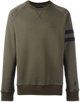 Lanvin distressed sleeve stripe sweatshirt