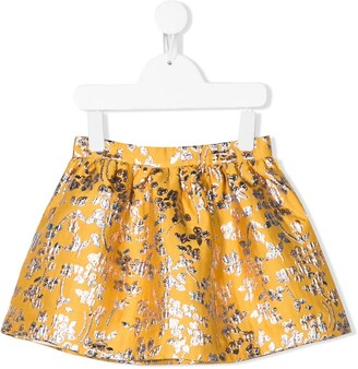 Hucklebones London Floral-Jacquard Short Skirt