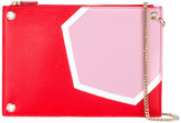MSGM chain handle clutch - women - Leather - One Size
