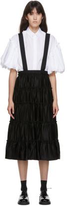 Noir Kei Ninomiya Black Suspender Skirt Trousers