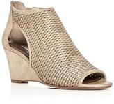 Donald J Pliner Jace Metallic Perforated Wedge Sandals