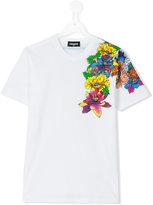 DSQUARED2 floral print T-shirt - kids - Cotton - 14 yrs