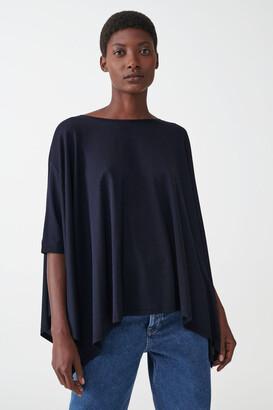 Cos Lyocell-Organic Cotton Draped Top