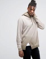 Asos Oversized Hoodie With Wash & Side Split