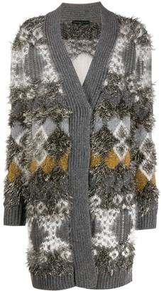 Fabiana Filippi tinsel-effect patterned cardigan