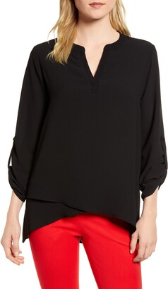Gibson x International Women's Day Erin Cross Front Tunic Blouse