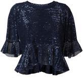 Dondup sequin embellished blouse - women - Nylon/Polyester/Spandex/Elastane - M
