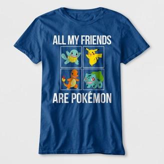Pokemon Boys' 'All My Friends Are Pokemon' Short Sleeve Graphic T-Shirt -