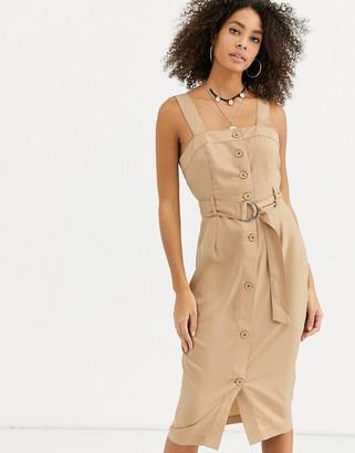 Urban Bliss nicola button through midi dress