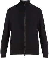 Brioni High-neck zip-through cotton sweater