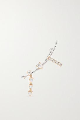 Delfina Delettrez 18-karat White And Yellow Gold Diamond Ear Cuff - L