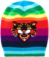 Gucci GG Angry Cat rainbow beanie - men - Wool - L