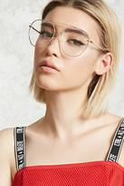Forever 21 FOREVER 21+ Clear Aviator Readers