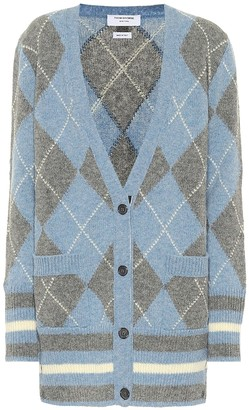 Thom Browne Argyle wool cardigan