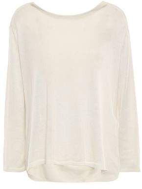 BA&SH Leia Open-back Silk And Cashmere-blend Sweater