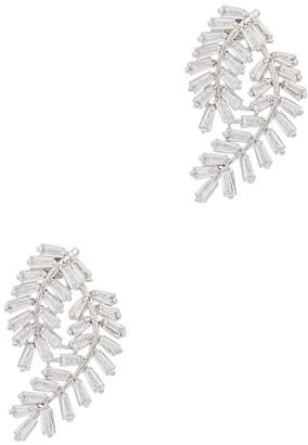 Fallon Deco Fern Crystal-embellished Earrings