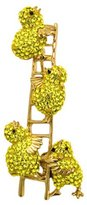 Butler & Wilson Butler and Wilson Crystal Chicks Climbing Ladder Brooch