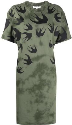 Mcq Swallow swallow-print T-shirt dress